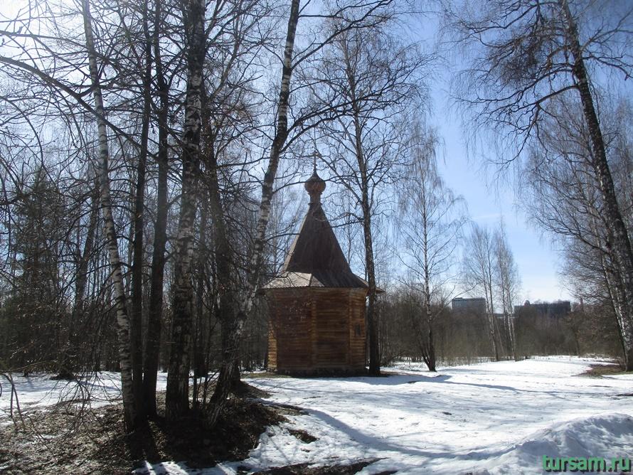 Часовня в музее деревянного зодчества
