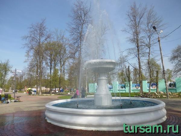 Фонтан в городском саду Твери
