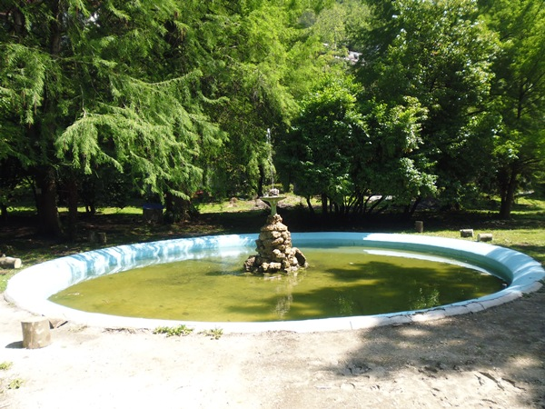 Фонтан в старом парке Гагры