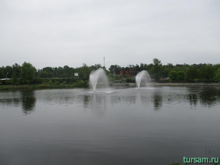 Фонтаны на территории парка культуры и отдыха в Мытищах-2