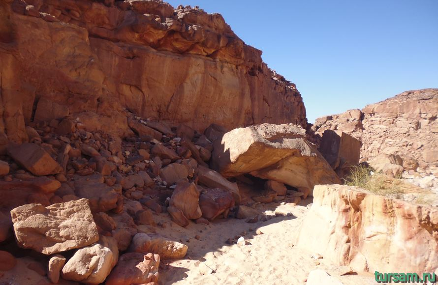 Фото цветного каньона в Египте-2