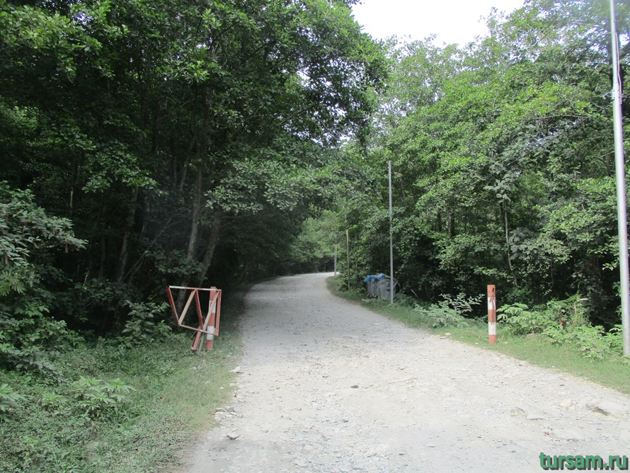 Фото дороги к водопаду Райское наслаждение в Лоо-5