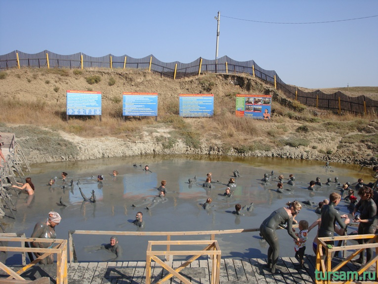 Фото грязевого вулкана Тиздар на Азовском море