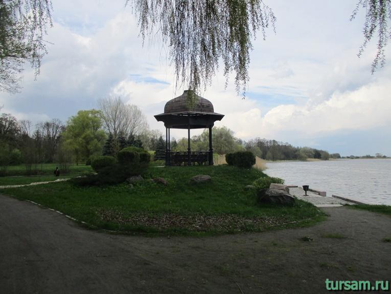 Фото на территории одного из ландшафтных парков рядом с Несвижским замком-20
