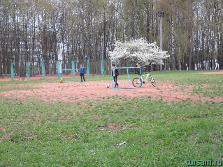Футбольное поле в парке имени Челюскинцев