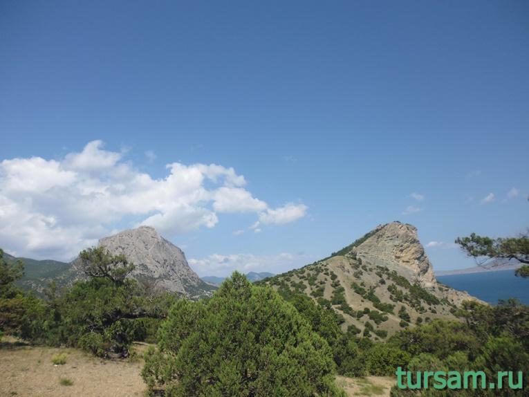 Горы на территории Ботанического заказника - Новый Свет
