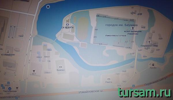 Карта усадьбы Измайлово
