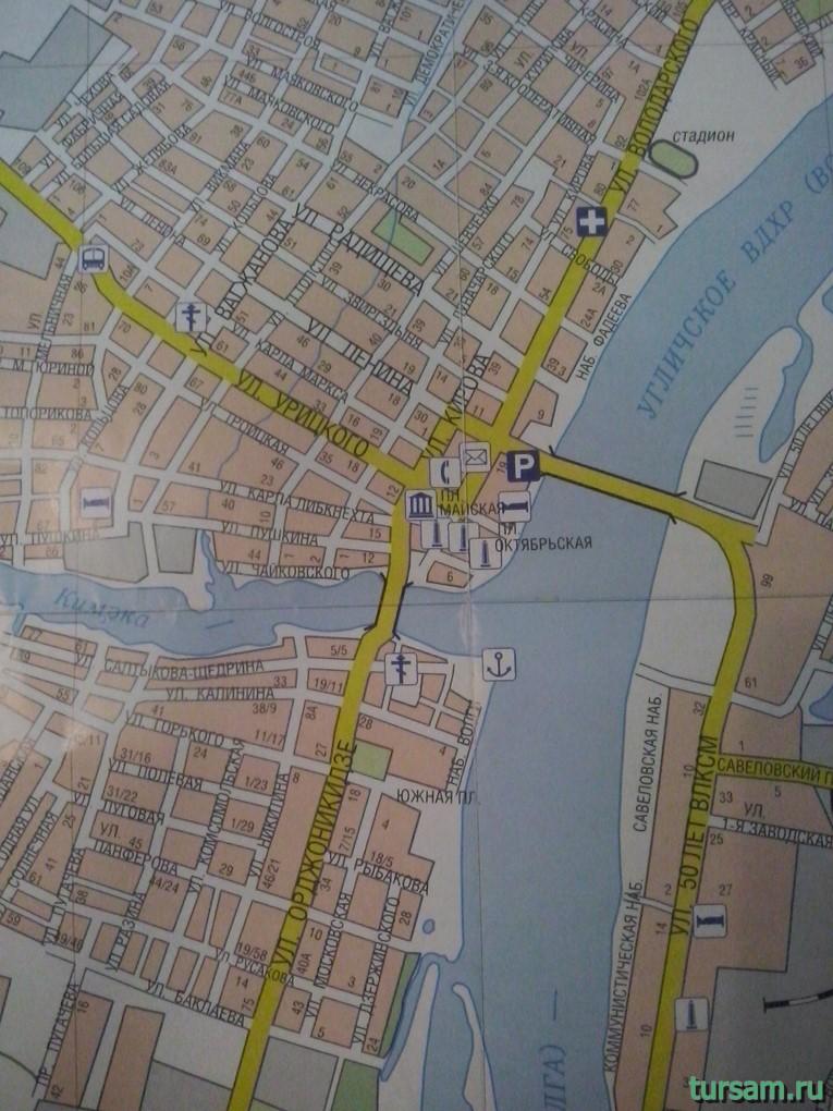 Карта города Кимры