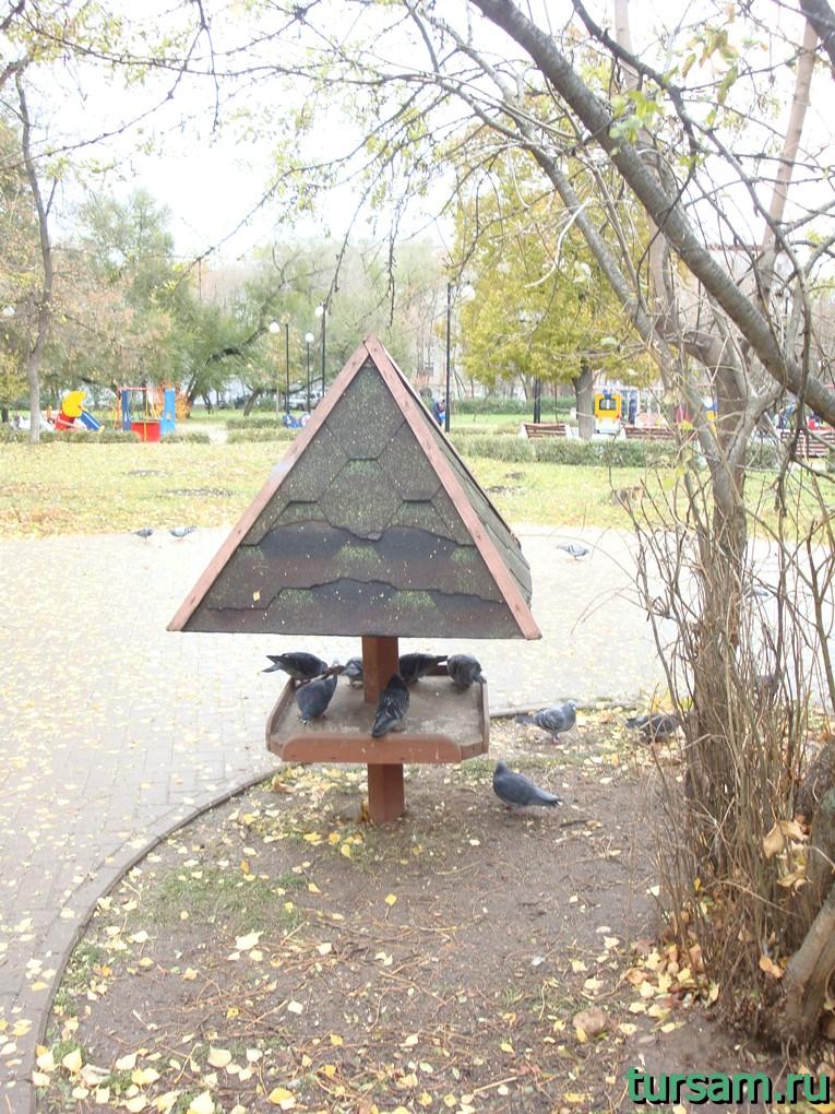 Кормушка в Чапаевском парке