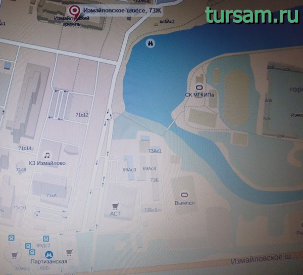 Кремль в Измайлово на карте