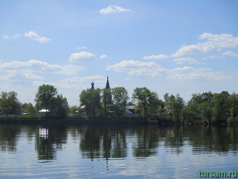 Купола церквей Знаменского женского монастыря