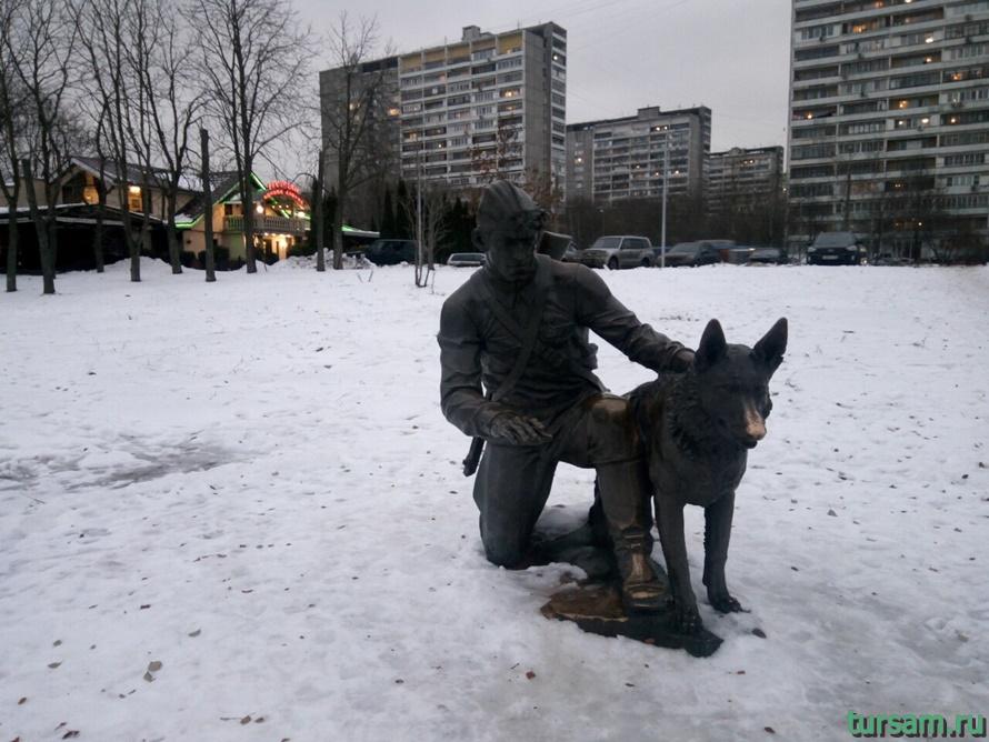 Памятник военному инструктору с собакой в Терлецкой Дубраве