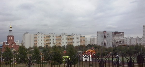 Парк рядом с метро Люблино в Москве