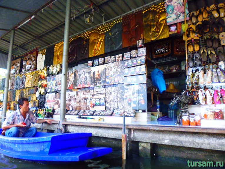 Фото плавучего рынка в Паттайе №2
