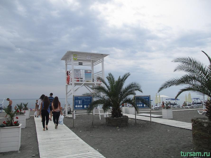 Пляж Ривьера в Сочи-5