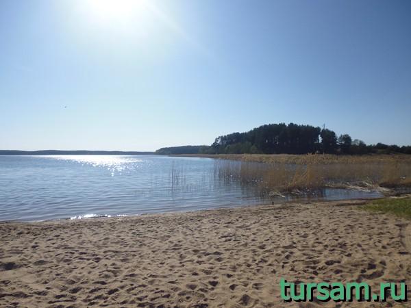 Пляж рядом с остановкой деревня Светлица