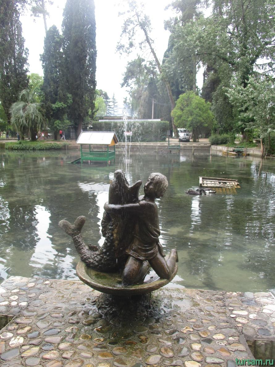 Приморский парк в Новом Афоне в Абхазии-22