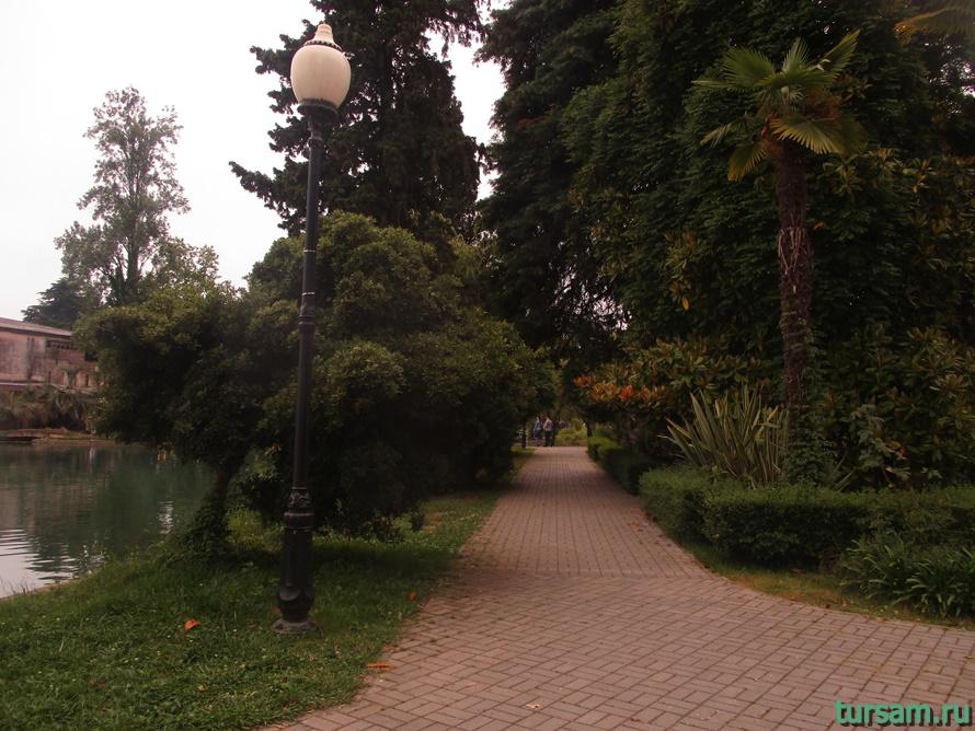 Приморский парк в Новом Афоне в Абхазии-3