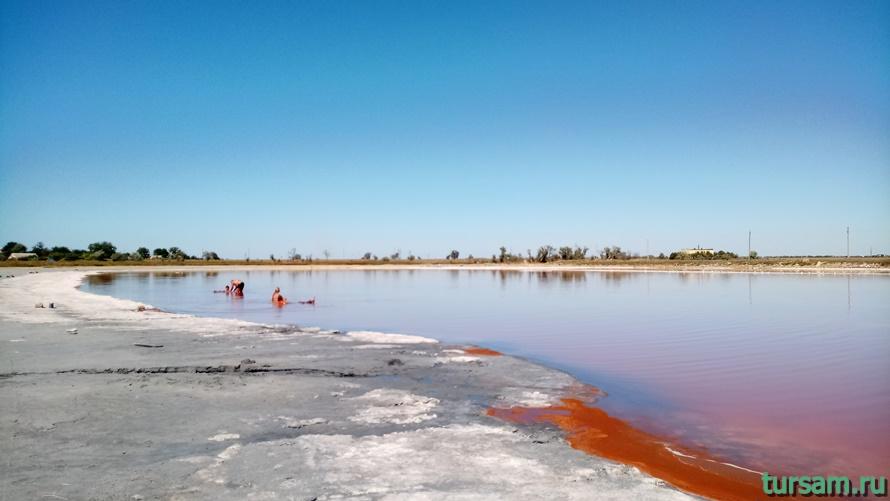 Розовое озеро в Заозерном-1