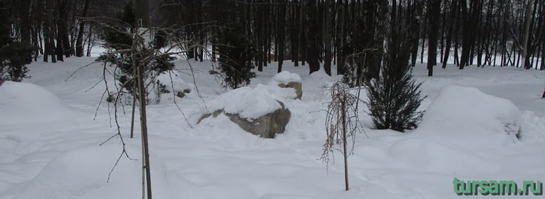 Сад камней в парке Белоусова