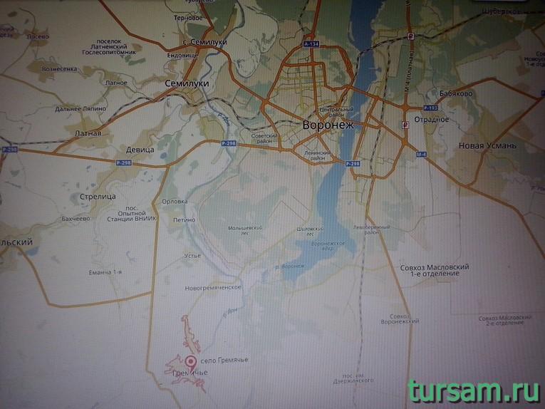 Село Гремячье на карте