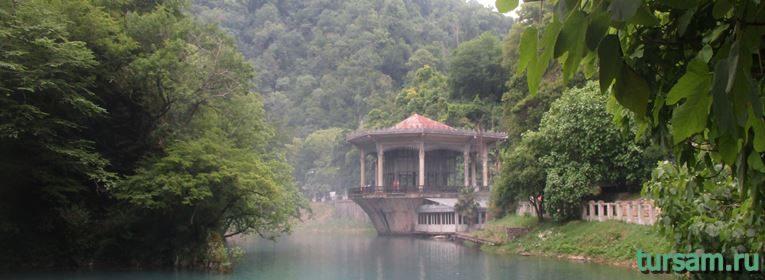 Станция Псырцха в Абхазии