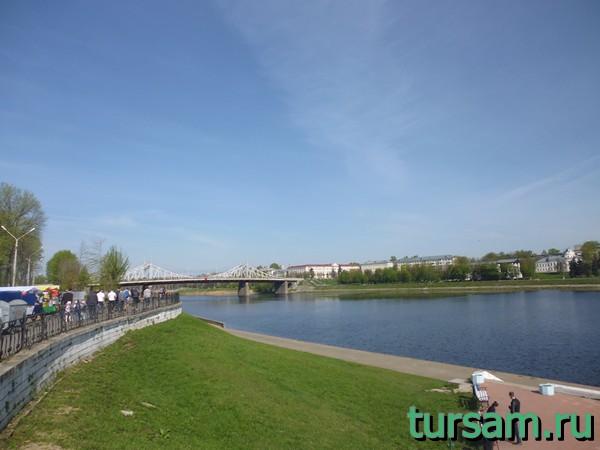 Староволжский мост в городе Тверь