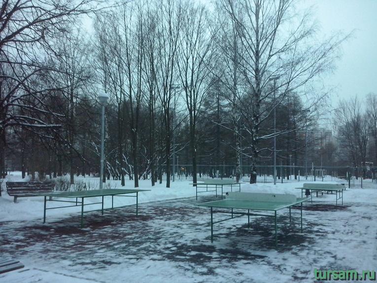 Столы для настольного тенниса в парке Ангарские пруды