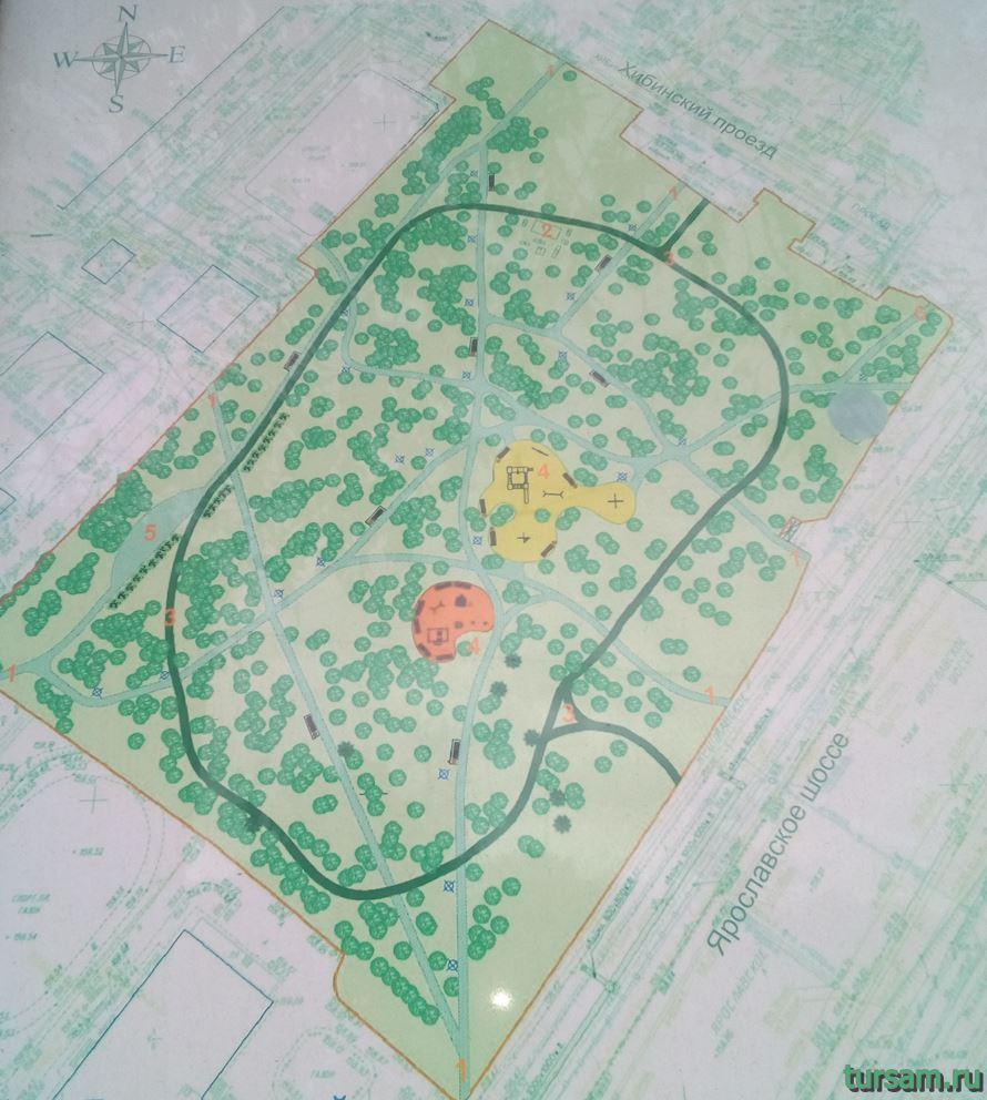 Карта Хибинского сквера