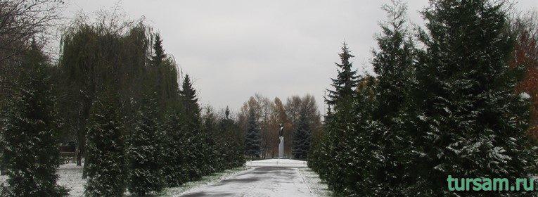 Мемориальный парк в городе Коломна