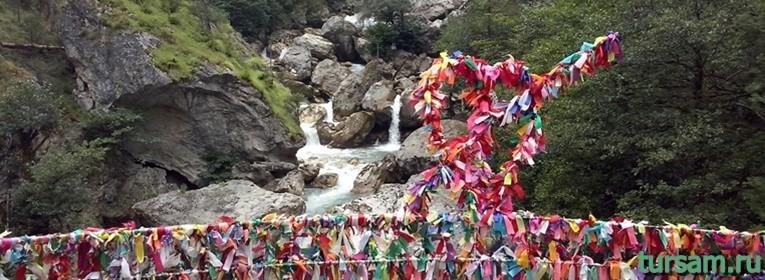 Водопад влюблённых в Абхазии